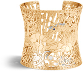 John Hardy Women's Legends Naga 64MM Cuff in 18K Gold with White Pave White Diamond (0.09ct)