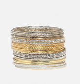 Avenue Glitter Bangle Set