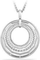 David Yurman Stax Large Round Pendant Necklace with Diamonds
