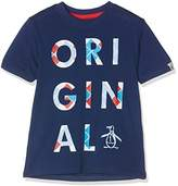 Original Penguin Boy's Argyle Logo T-Shirt
