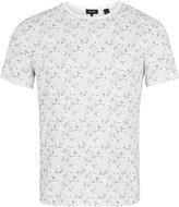 Oxford Max Printed Palm T-Shirt Grey/Whi X