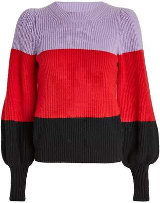 A.L.C. Sammy Colorblock Cashmere-Lambswool Sweater