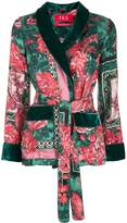 F.R.S For Restless Sleepers floral-print smoking jacket