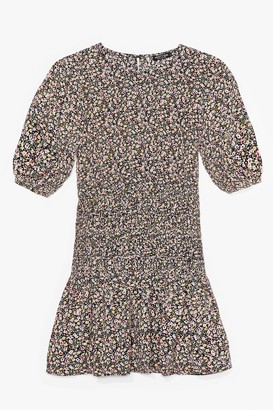 Nasty Gal Womens Ready for the Afterglow Floral Mini Dress - Black