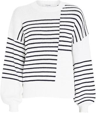 Frame Mixed Stripe Cotton Sweater