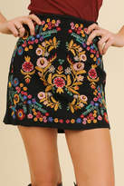 Umgee USA Embroidered Mini Skirt