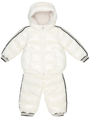 Moncler Enfant Baby Juno down jacket and overalls set