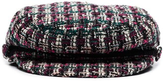 Maison Michel New Abby tweed baker boy cap