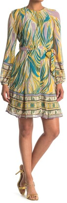 Donna Morgan Belted Blouson Sleeve Dress