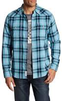 Lucky Brand SS Western Plaid Slim Fit Shirt