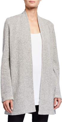 Eileen Fisher Plus Size Twisted Terry Long Kimono Cardigan