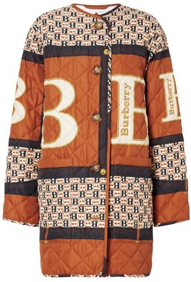 Burberry Quilted Scarf Print Coat