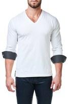 Men's Maceoo Check V-Neck Pullover