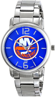 Game Time Men's NHL-AAR-NYI All Around Analog Display Japanese Quartz Silver Watch