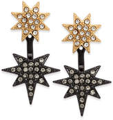 INC International Concepts Two-Tone Pave Star Front-Back Earrings, Created for Macy's