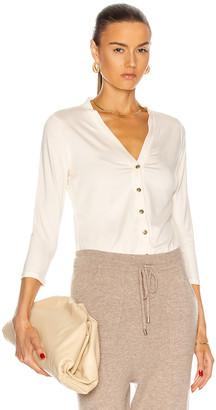 L'Agence Britney 3/4 Sleeve Cardigan in Vintage White | FWRD