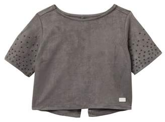 7 For All Mankind Elbow Embroidered Sleeve Shirt (Baby Girls)