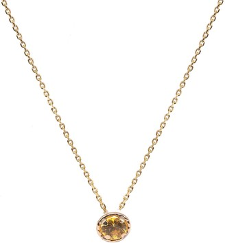 Lily Flo Jewellery Yellow Sapphire Solitaire Necklace On Solid 9Ct Gold