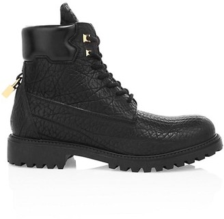 Buscemi Textured Leather Site Boots