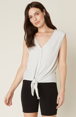 BB Dakota Knit's Been Real Tank with Tie Front