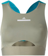 adidas by Stella McCartney zip detail compression top - women - Spandex/Elastane/Recycled Polyester - XS
