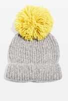 Topshop Big Knitted Pompom Beanie Hat