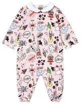 Fendi Pink Monster Print Babygrow