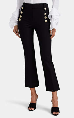 Derek Lam 10 Crosby Women's Robertson Button-Detailed Crop Flared Trousers - Black