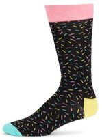 Happy Socks Sprinkle Pattern Cotton-Blend Socks