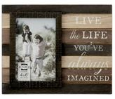 "Prinz Kendall ""Live the Life"" 4-Inch x 6-Inch Picture Frame in Brown/Black"