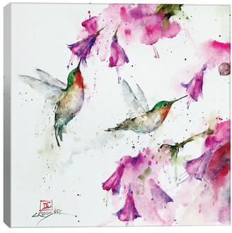 iCanvas Hummingbirds And Floral By Dean Crouser Wall Art