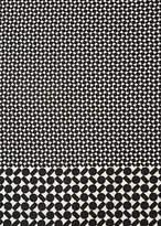 Men's Black Geometric Motif Silk-Blend Scarf
