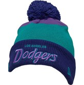 New Era NFL Los Angeles Dodgers Colorblock Knitted Bobble Hat Navy/Multi