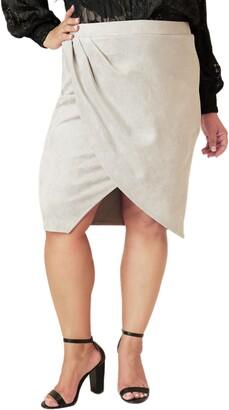 Marée Pour Toi Faux Suede Tulip Skirt