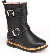 Step & Stride Black Lara Buckle Boot - Kids
