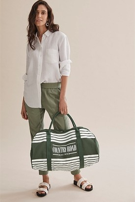 Country Road Heritage Stripe Logo Tote