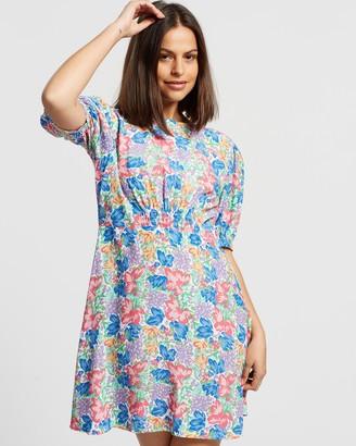 Faithfull The Brand Women's Blue Mini Dresses - Sidonie Mini Dress - Size 6 at The Iconic