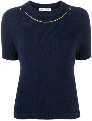 Ports 1961 Short-Sleeve Knitted Top