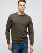 Lyle & Scott Crew Sweatshirt Eagle Logo in Green