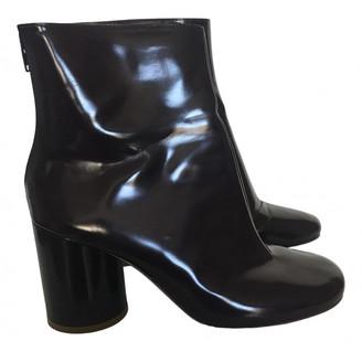 Maison Margiela Burgundy Patent leather Ankle boots