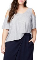Rachel Roy Plus Size Women's Cold Shoulder Bell Top