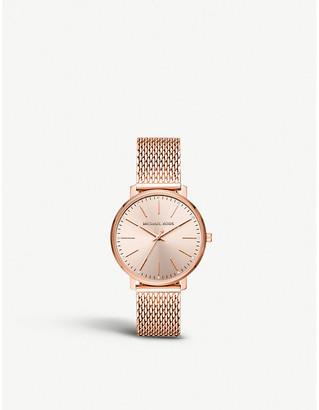 Michael Kors MK4340 Pyper rose-gold toned stainless steel watch