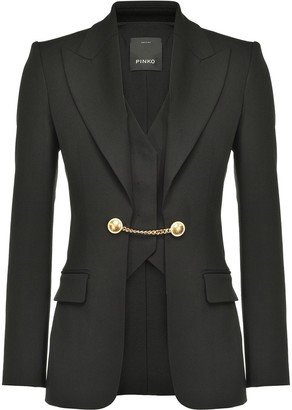 Pinko Chain-Detail Tailored Blazer