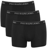 Polo Ralph Lauren Men's 3 Pack Trunk Boxer Shorts Black