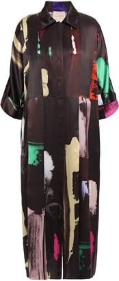 Roksanda Printed Silk Crepe De Chine Shirt Dress