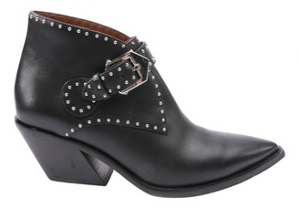 Givenchy Black Leather Ankle boots