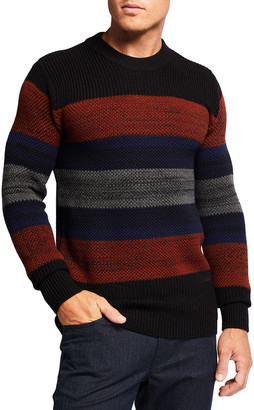Scotch & Soda Men's Multi-Stripe Knit Crewneck Sweater