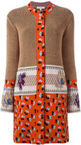 Etro embroidered cardi-coat - women - Cotton/Polyester/Viscose - 46