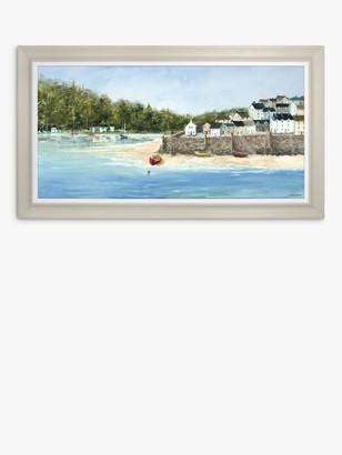 Anthony Logistics For Men Waller - Coastal Retreat Framed Canvas, 64 x 114cm, Blue/Multi
