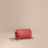 Burberry Grainy Leather Clutch Bag, Red